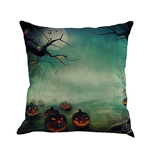 Han Shi Halloween Pillowcases, Sofa Cushion Cover Home Decoration Pillow Shams Pillowslips Cartoon Pillowcase (A, Multicolor)