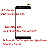 UoUo ~ Screen Replacement Part for ZTE ZMAX PRO Z981 Touch Screen Digitizer with 8 pcs tools gift(Black)