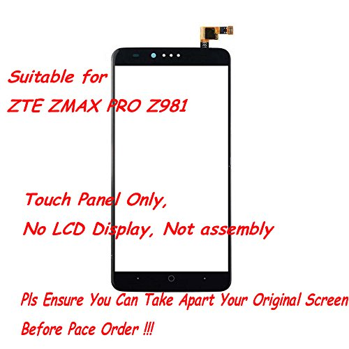 UoUo ~ Screen Replacement Part for ZTE ZMAX PRO Z981 Touch Screen Digitizer with 8 pcs tools - Cost Tracking Usps Number