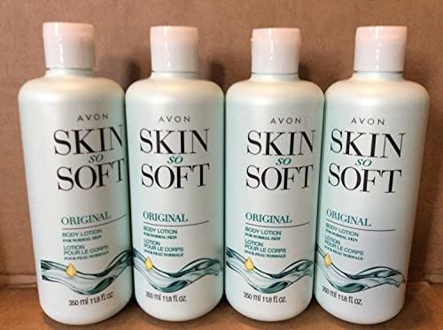 Lot of 4 Avon Skin So Soft Original Body Lotion 11.8 oz. Each.