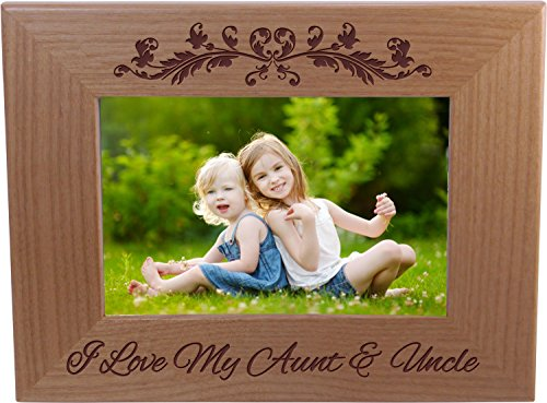CustomGiftsNow I Love My Aunt and Uncle 4-inch x 6-inch Wood Picture Frame