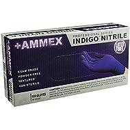 AMMEX - AINPF - Medical Nitrile Gloves - Disposable Gloves, Powder Free, Latex Free, Exam Grade, 4 mil, Indigo