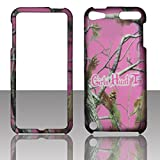 Pink GHT Camo Apple iPod Touch 5, 5th Generation Case Cover Hard Phone Case Snap-on Cover Rubberized Frosted Matte Surface Hard Shells