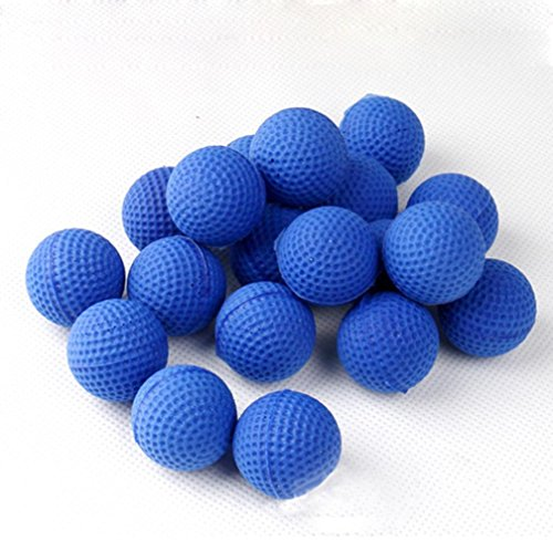 Alonea 100PCS Rounds Refill Bullet Balls for Nerf Rival Apollo Zeus Refill Toy Compatible Gun Bullet Balls (Blue)