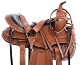 "AceRugs 15"" 16"" 17"" 18"" Beautiful Chestnut Hand Tooled Western Pleasure Trail Endurance Riding Leather Horse Saddle TACK"
