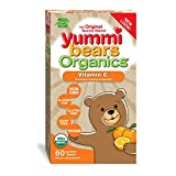 Yummi Bears Organics Hero Nutritionals Vitamin C Gummy Vitamin for Kids Dietary Supplement Promotes Healthy Immunity Vegan Friendly, 60 Yummi Gummies