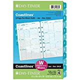 "Day-Timer 2019 Weekly Planner Refill, 5-1/2'' x 8-1/2"", Desk Size 4, Loose Leaf, Two Pages Per Week, Coastlines (13483)"