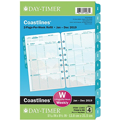 Day-Timer 2019 Weekly Planner Refill, 5-1/2