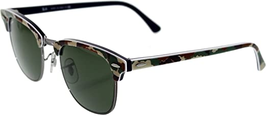 rb3016 49 clubmaster  Ray-Ban Sunglasses CLUBMASTER (RB 3016 1069 49): Ray-Ban: Amazon ...