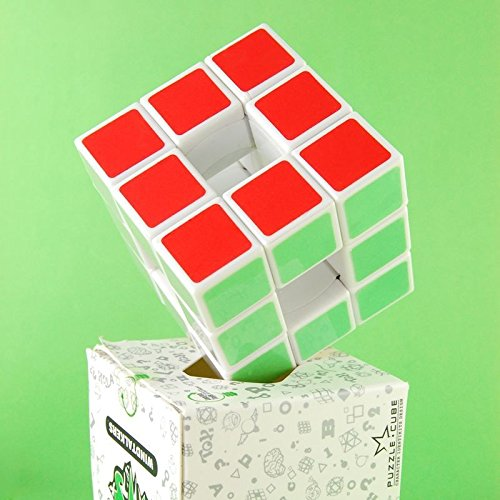 [DSstyle 3x3x3 Speed Cube, Hollow White] (Borg Halloween Costumes)