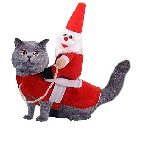 AWFAND Pet Dog Cat Christmas Outfits Clothes, Santa Claus ...
