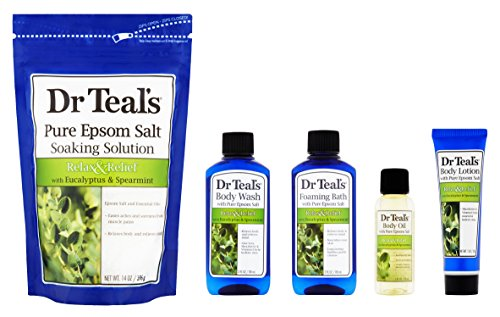 Dr Teal's Relax with Eucalyptus & Spearmint 5-Piece Bath Gift Set