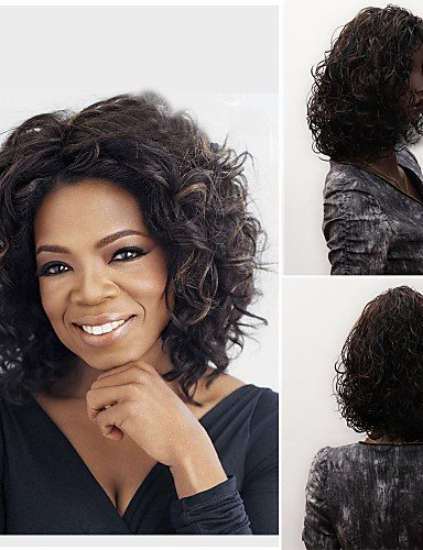 Wigs have an attractive convenience fashion Fashionable Women's Glueless Deep Curly Short Hair Wig for African (Dallas Cheerleaders Costume)