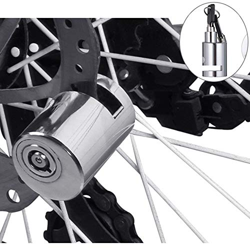 EraseSIZE Security Anti Theft Heavy Duty Motorcycle Bicycle Moped Scooter Disk Brake Rotor Bike Lock