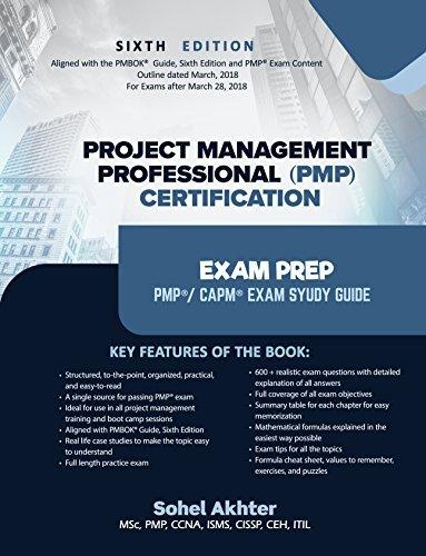 Project Management Professional (PMP) Certification Exam prep