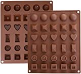Best Silicone Mold For Candy Chocolates - Ozera 2 Pack Silicone Chocolate Jelly Candy Mold Review