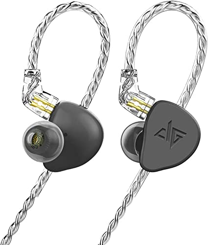 F300 in-Ear Monitors, HiFi Stereo Headphones with Detachable Cable Universal-Fit Wired Sports 0.78mm 2PIN Black