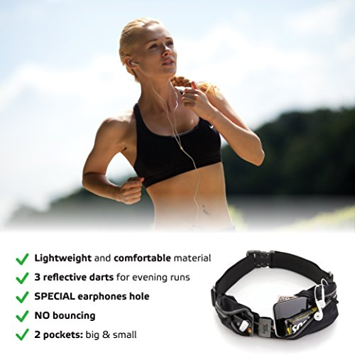 Sport2People Waist Bag for Running Waterproof Waist Pack Best Fitness Gear for Hands-Free Workout Freerunning Reflective Waist Pack Phone Holder Men, Women, Kids Running Accessories by Sport2People (Image #4)