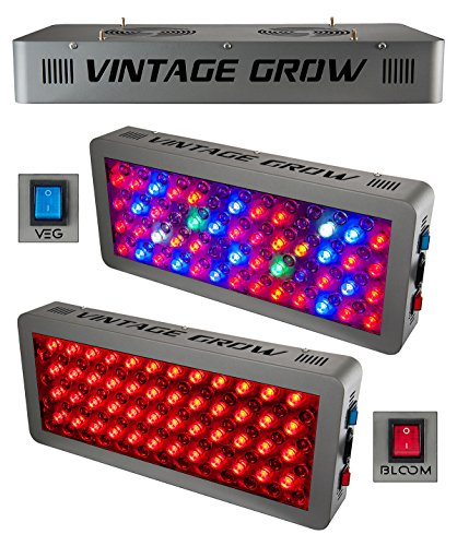 VINTAGE GROW | Best LED Grow Lights for Flowering Indoor Plants | Full Spectrum | High PAR Value | Veg and Bloom | Highly Efficient | More Light with Less Powerand Heat | 300W Panel with Optical Lens by VINTAGE GROW