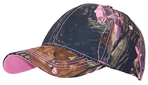 Tree Camouflage Adjustable Hook And Loop Hat (One Size) - Pink Camo