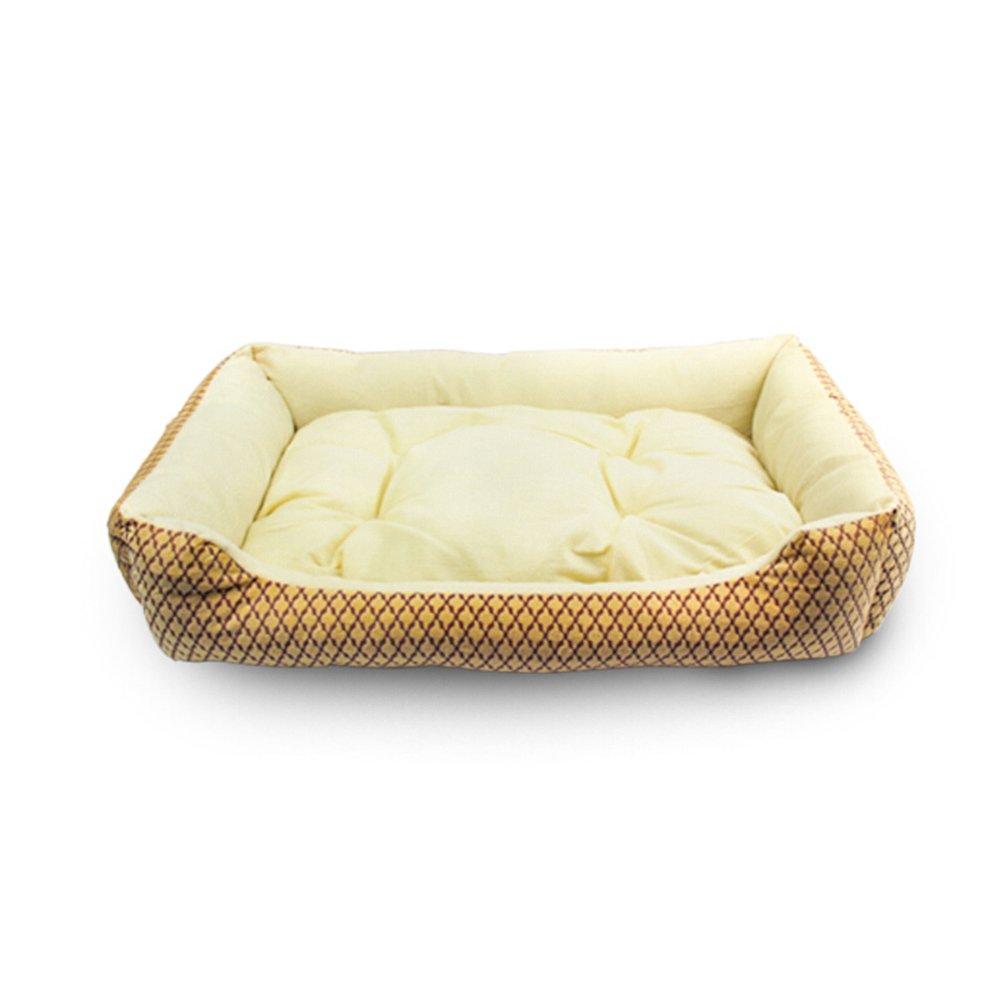 B Pet bed Pet Supplies Large Dog Kennel cat Litter golden Retriever Puppies Dog mat (color   B)