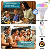 Jetencn Bluetooth Light Bulb with Speaker, Smart