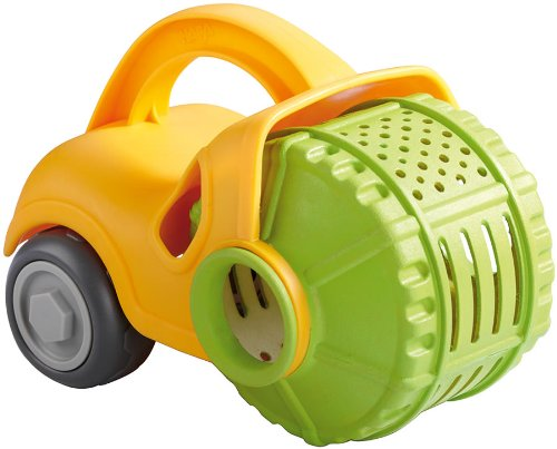 Double Roller Specs (HABA Sand Play Steam Roller and Sieve Construction Vehicle for Beach, Sandbox and Pool - Perfect Sand Play Accessory Toy)