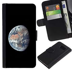 Planetar® Modelo colorido cuero carpeta tirón caso cubierta piel Holster Funda protección Para Samsung Galaxy S6 / SM-G920 ( Space Planet Galaxy Stars 55 )