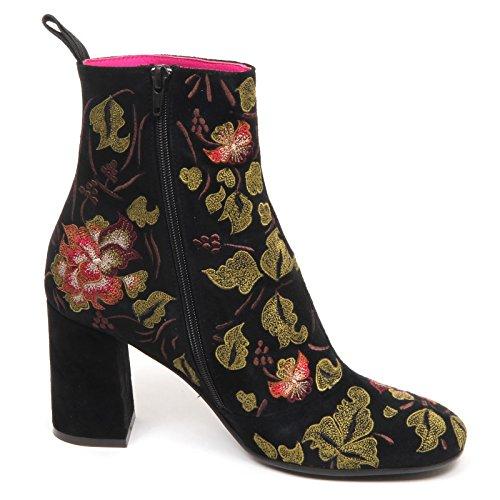 Maliparmi Black Woman Scarpe Donna Shoe E6494 Boot Suede Tronchetto Nero 44xBRqa