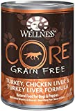 Wellness Core Grain Free – Turkey, Chicken Liver & Turkey Liver – 12 x 12.5 oz For Sale