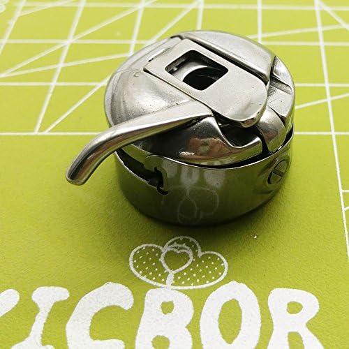 YICBOR 5 piezas de metal plateado máquina de coser Bobbin caso ...