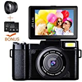 Digital Camera Camcorder, Weton Full HD 1080P 24.0MP Video Camera 3.0 Inch Flip Screen Vlogging...