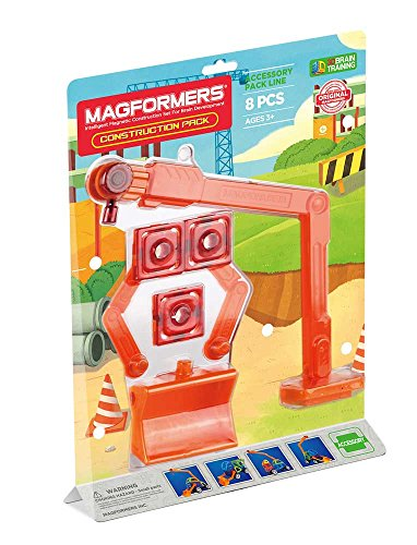Magformers Construction 8 Pieces Accessory, Blue, Educational Building STEM Toy Set Ages 3+