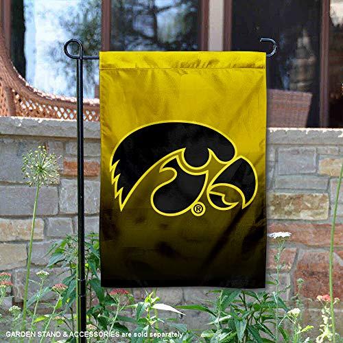 Iowa Hawkeyes Gradient Colors Garden Banner Flag (Border Team Wall Hawkeyes Iowa)