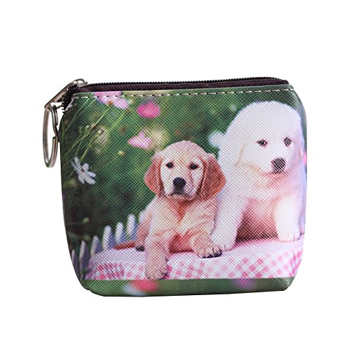 4e9c27537 Lady Dog Cat Pet Faux Leather Clutch Short Coin Purse Wallet Gift Charming  (12#)