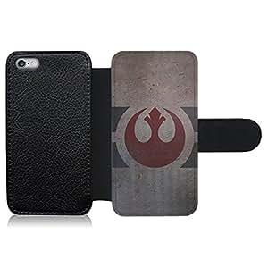 Funda carcasa de cuero para Apple iPhone 6 Plus - 6S Plus logo alianza rebelde envejecido SW