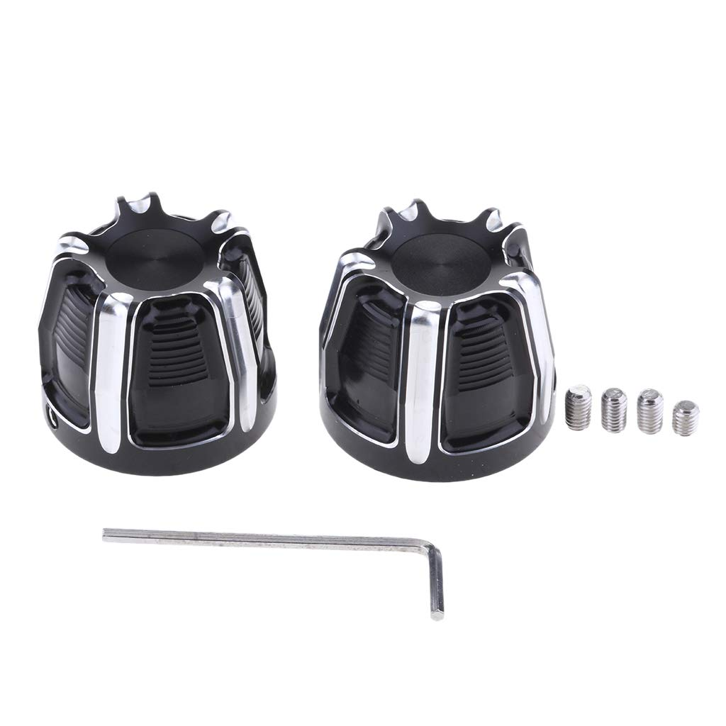 Silver Homyl Aluminum Front Axle Nut Cover Bolt for Harley Touring Softail Road King Road Glide Dyna Sportster 883