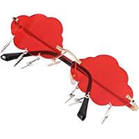 KESYOO Rimless Sunglasses UV Protection Sunglasses Funny Irregular Disco Glasses Novelty Glasses Sunglasses with Cloud…
