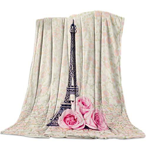 Licans Flannel Lightweight Cozy Soft Throw Blanket for Couch Sofa Bed All Season - Paris France Decor Eiffel Tower (40 x 50 - Eiffel Tower Flannel