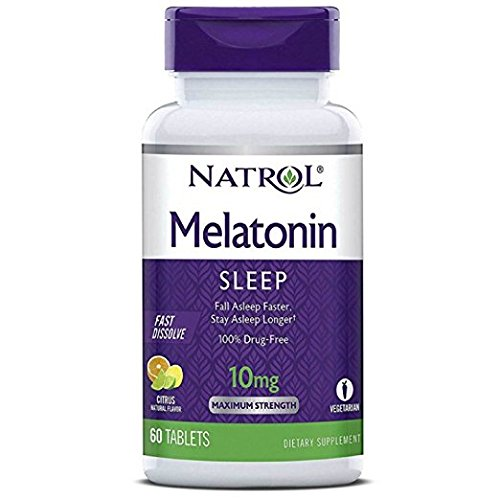 Natrol Fast Dissolve Melatonin Tablets 10 mg, Citrus Punch Flavor 60 ea