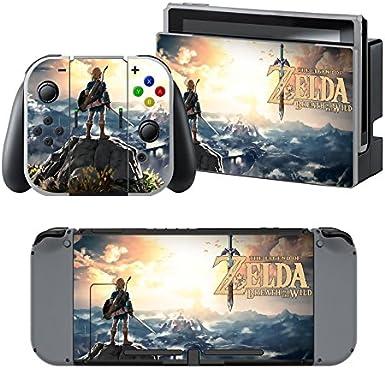 The Legend of Zelda: Breath of the Wild - Pegatina Nintendo Switch - 1 Pegatinas de Consola , 2 Pegatinas de Mandos Joy Con, 2 Pegatinas Dock y 1 Pegatina Mando.: Amazon.es: Videojuegos