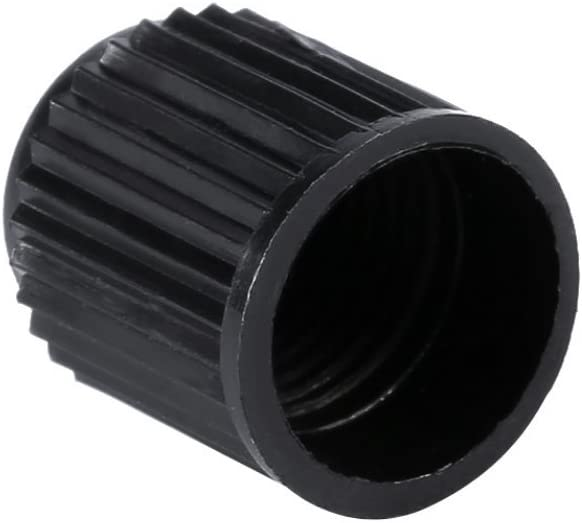 Car Tire Air Valve Caps 100PCS Black Plastic Auto Car Bike Motorcycle Truck Wheel Tyre Dust Stems Cover