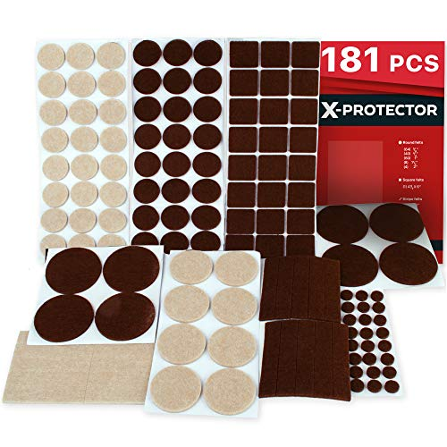 X Protector Premium Ultra Large Pack Felt Furniture Pads