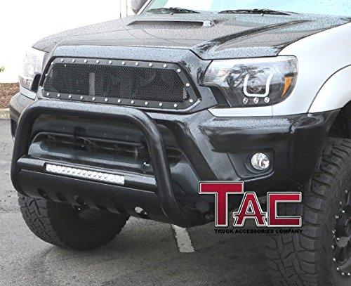 TAC 2007-2014 CADILLAC ESCALADE/ CHEVY 2007-2015 SILVERADO 1500HD &TAHOE& SUBURBAN/ GMC 2007-2015 YUKON/YUKON XL/ 2007-2014 SIERRA 1500 LED Bull Bar Brush Guard