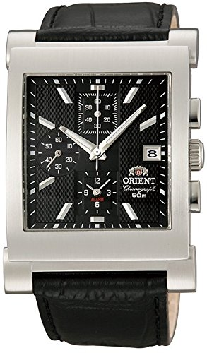 ORIENT Men's Quartz Black dial Watch STDAG002B0 (Made in Japan)