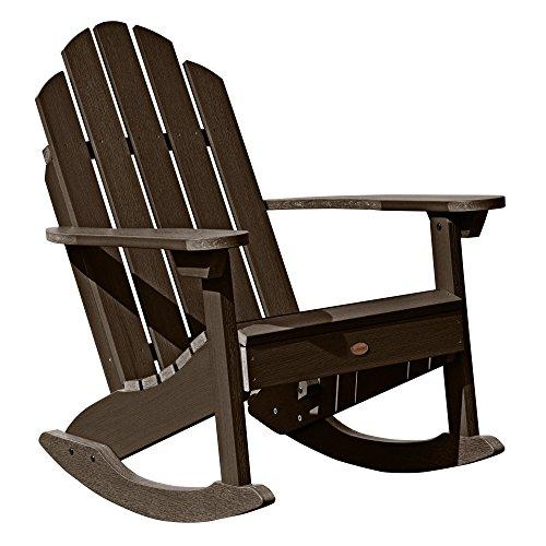 Classic Westport Adirondack Rocking Chair, Weathered Acorn (Chair Rocking Adirondack Classic)