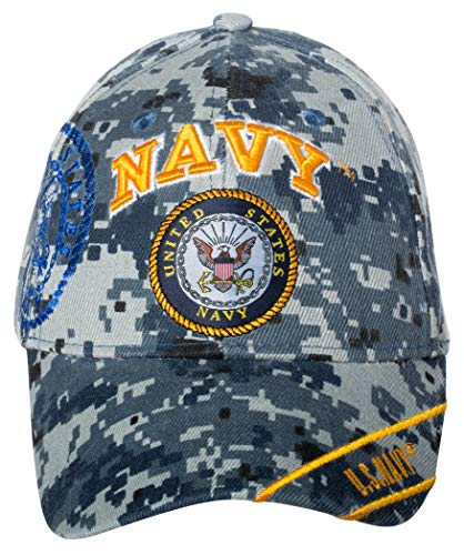 Officially Licensed United States Navy Logo Embroidered Baseball Cap (Digital - Ball Camo Cap Digital