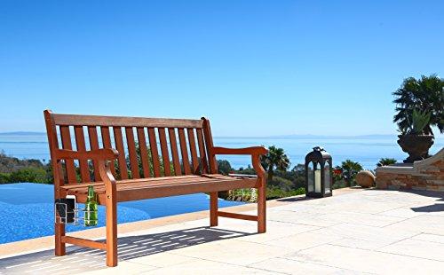 Vifah 5 Foot Malibu Wood Garden Bench With
