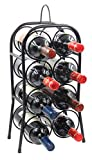 PAG 8-Bottle Metal Wine Rack Free Standing Countertop Wine Holder Shelf for Storage and Display, Black