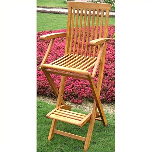 - International Caravan Royal Tahiti Outdoor Patio Folding Bar Stool (Set of 2)